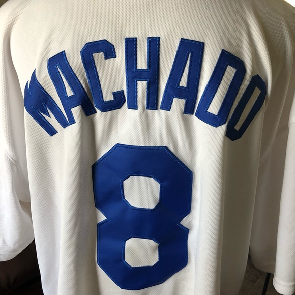 buy online abcdd 75d0d Manny Machado majestic Dodgers jersey